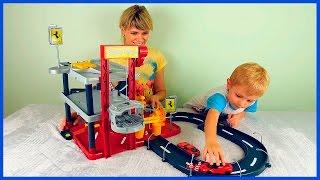 getlinkyoutube.com-Машинки для детей  Гаражи и Паркинги для машинок  Все серии подряд  Весёлые детские видео