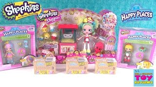 getlinkyoutube.com-Shopkins Popette's Popcorn Stop Happy Places Lil Shoppie 2 Pack Opening Unboxing | PSToyReviews
