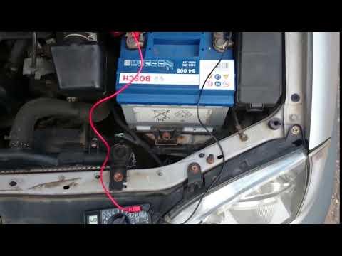 Toyota Avensis 1.8 ZZ-FE ZZT221L-AEMEK. Заряд аккумулятора. После ремонта. Статика