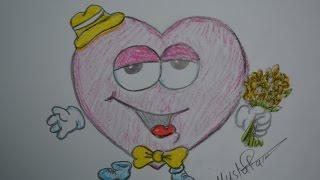 getlinkyoutube.com-تعلم الرسم - الدرس الثالث كيفية رسم قلب الحب بشكل احترافي بالرصاص والالوان مع الخطوات للمبتدئين