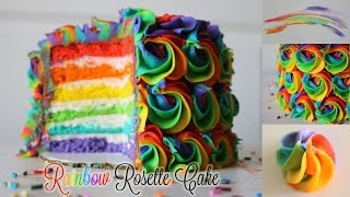 Rainbow Rosette Cake!