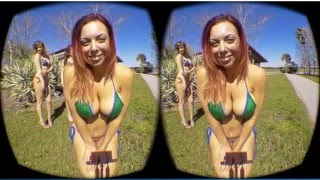 Stereoscopic 3D Swimsuit VR. Smartphone in Cardboard Viewer. No Software Needed