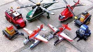 getlinkyoutube.com-8 NEW Planes Fire & Rescue Mattel Diecasts Mayday Blade Maru Drip Blackout Pontoon Disney Aviones2