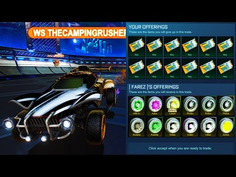 BIGGEST PAINTED WHEELS TRADE IN ROCKET LEAGUE!!