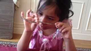 6 year old bends spoon with her MIND!  Amazing  --- Dorothy Hagen