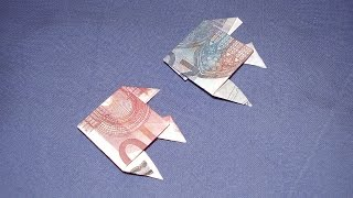 getlinkyoutube.com-Geldgeschenke: Geldschein Fisch falten