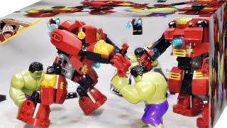 getlinkyoutube.com-SY 헐크버스터 스매시 76031 중국 레고 짝퉁 조립 리뷰 Lego knockoff The Hulk Buster Smash