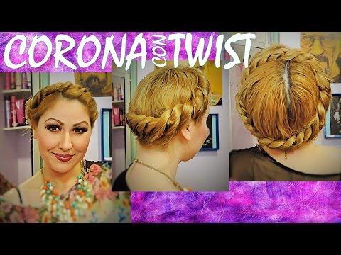 CORONA trenzada con TWIST para primavera verano 2015 Greek goddess crown braid tutorial