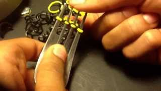 getlinkyoutube.com-How to make a hexafish rainbow loom bracelet on a fork