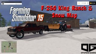 getlinkyoutube.com-Farming Simulator 2015 Mods- F-250 King Ranch Diesel, Argo 6x6,  and Snow Map with Plow