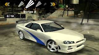 getlinkyoutube.com-Need For Speed Most Wanted Nissan Skyline GT-R Brian Vinyls