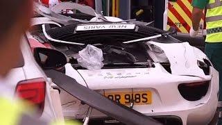 getlinkyoutube.com-British Millionaire Crashes Porsche Into Crowd