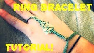 getlinkyoutube.com-how to, Macrame tutorial Stone/ Crystal Ring Bracelet