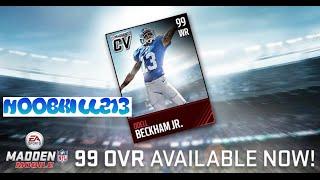 getlinkyoutube.com-Madden Mobile 99 Overall Boost Odell Beckham Jr.