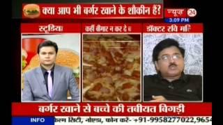 Dr. Ravi Malik CMD Malik Radix Healthcare commenting on burger, pizza & Hepatitis-E at News-24