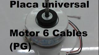 Placa universal Aire Acondicionado split  - Como conectar motor