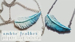 getlinkyoutube.com-Ombre Feather - Polymer Clay Tutorial   ►Laurart◄