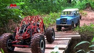 getlinkyoutube.com-11 RC Trucks scale offroad 4x4 Adventures - Showtime scx10 land rover defender rc4wd wraith