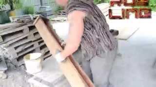 getlinkyoutube.com-Как сделать много бетонных столбов одной формой