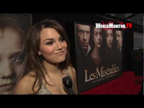 Samantha Barks interviewed at 'Les Miserables' New York Premiere