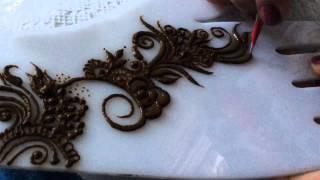 getlinkyoutube.com-Gulf style simple henna design