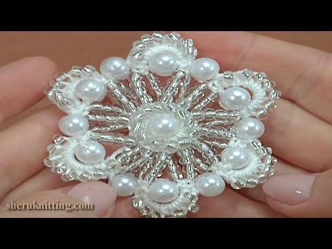 Crochet Beaded Flower Tutorial 161