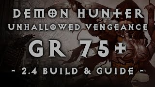 "Diablo 3 | Demon Hunter GR 75+ ""Unhallowed Vengeance"" Fire Multishot Build (2.4)"