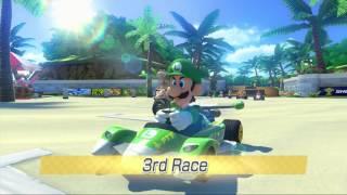 getlinkyoutube.com-Mario Kart 8: Shell Cup w/ Luigi (150cc) [1080 HD]