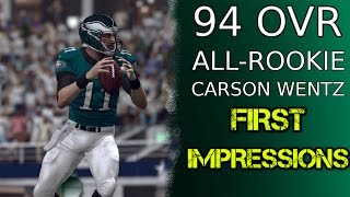 94 OVR All-Rookie Carson Wentz | First Impressions | Madden 17 Ultimate Team Gameplay | MUT 17
