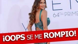 getlinkyoutube.com-!Sofía Vergara Vestido Se Rompe en Premios Emmy!