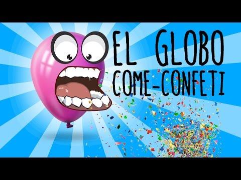 El globo que come confeti (Experimentos para niños)