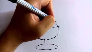 วาดการ์ตูนกันเถอะ สอนวาดการ์ตูน ไอศครีมซันเดย์