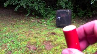 getlinkyoutube.com-12 Gauge Shotgun Wax slug test