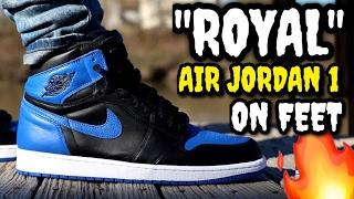 "THIS IS THE AIR JORDAN YOU NEED!?  ""ROYAL"" AIR JORDAN 1 ON FEET!"