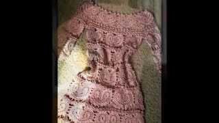getlinkyoutube.com-Vestidos juveniles tejidos a crochet