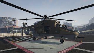 getlinkyoutube.com-GTA 5 Online: Savage Attack Chopper. New Heist Update.