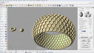 Rhinojewel 5.0 - Array Pave on Revolved Surface with Custom Object