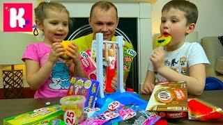 ЧЕЛЛЕНДЖ гимнастика Очень много конфет Желейное ПИВО Fantastic gymnastics Candy Challenge for kid's