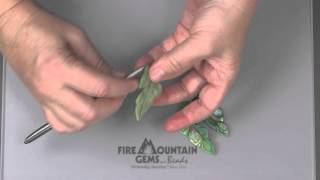 getlinkyoutube.com-My Favorite Polymer Clay Leaf