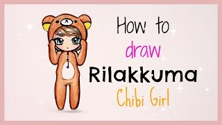 getlinkyoutube.com-❤ Drawing Tutorial - How to Draw Rilakkuma Chibi Girl ❤