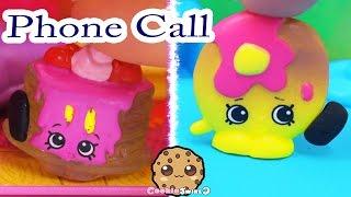 getlinkyoutube.com-Shopkins Season 4 Play Video - Phone Call - Toy Series Part 5 Cookieswirlc