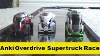 getlinkyoutube.com-Anki Overdrive Race Time: X-52, Freewheel & X-52 Ice