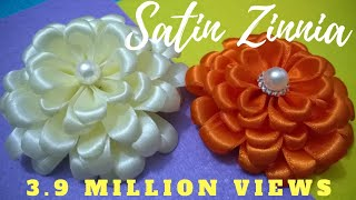 getlinkyoutube.com-D.I.Y. Satin Zinnia Flower - Tutorial | MyInDulzens
