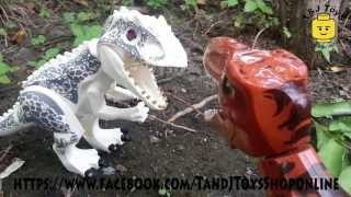 getlinkyoutube.com-LEGO Jurassic World T-Rex vs Indominus Rex LELE Bootleg LELE79151 Review