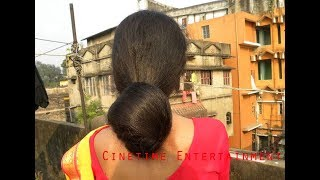 Floor Length Bun Drops with Floor Length Long Hair