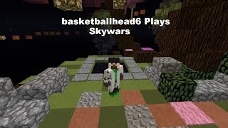 getlinkyoutube.com-basketballhead6 Plays Skywars - Episode 1 - A Win with bajanasf!