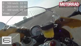 getlinkyoutube.com-BMW S 1000 RR: 0 - 300 km/h (max. Beschleunigung und Verzögerung)
