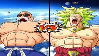 getlinkyoutube.com-[Hard] DBZ BT 3 Master Roshi (Max Power) vs Broly Legendary Super Saiyan