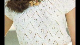getlinkyoutube.com-Patrón para tejer blusa en tresjolie a 2 agujas