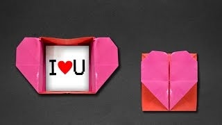 getlinkyoutube.com-Origami: Heart Box & Envelope